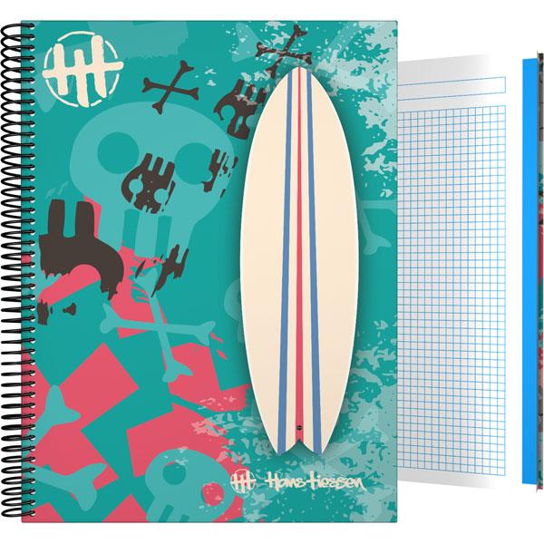 Forrado. Cuaderno Tapa Dura A4 Hans Tiessen / Surf - ΤΕΤΡΑΔΙΟ Α4