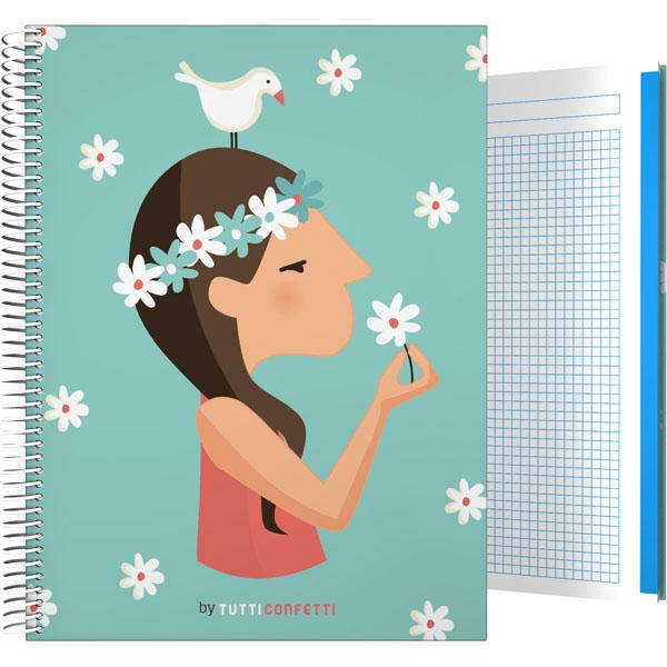 Forrado. Cuaderno Tapa Dura A4 Tutti Confetti / Live - ΤΕΤΡΑΔΙΟ Α4