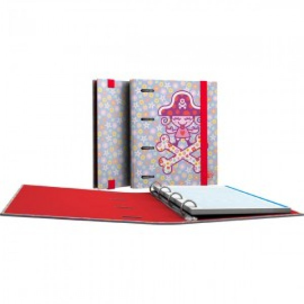 Forrado. CarpeBook A5 Katuki Saguyaki / Heart - Ντοσιέ Α5 με 4 κρίκους