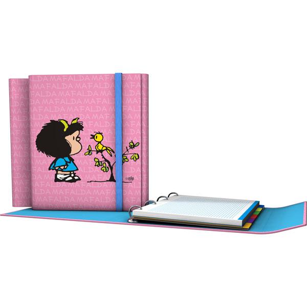 Forrado. CarpePlús Α4 Mafalda / Pajarito - Ντοσιέ κλειστό μπροστά Α4