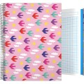 Forrado. Cuaderno Tapa Dura A4 Elena Corredoira / Pajaros - ΤΕΤΡΑΔΙΟ Α4