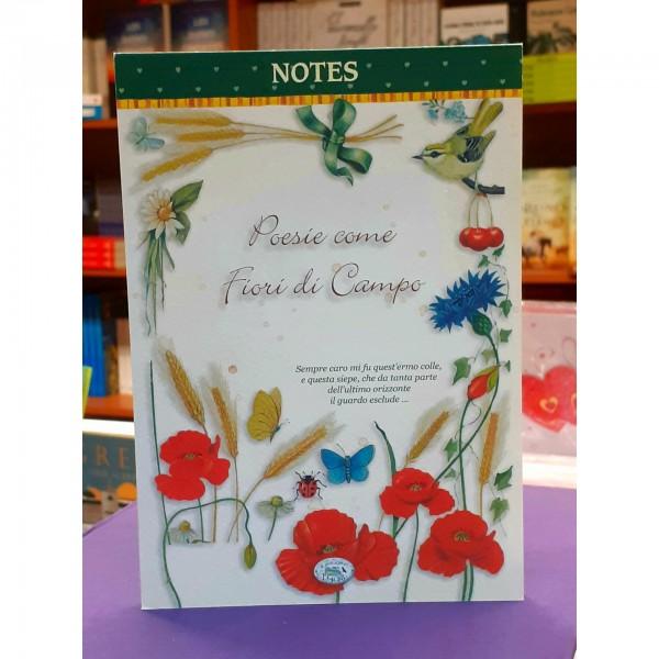 Poesie come Fiori di Campo - Block Notes (Italiano block)